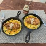 Sriracha Fried Chicken Mac and Cheese with Maple Butter