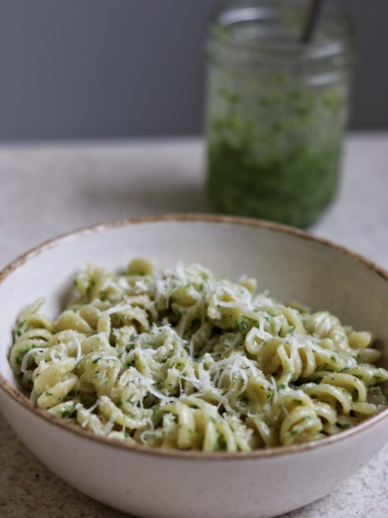 Easy 4 Ingredient Pesto Pasta Recipe