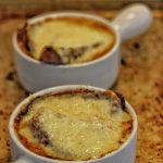 Roy Choi's French Onion Soup Plated with Melty Cheese