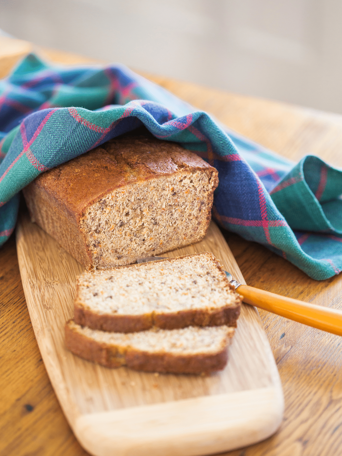 a loaf of quick bread using leftover buttermilk